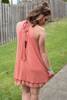 Pink Slate Boutique - The Mad Hatter Dress (Salmon), $39.00 (http://www.pinkslateboutique.com/the-mad-hatter-dress-salmon/)