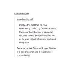 Omg love this!!! Although snape is understandable cuz he had a bad life