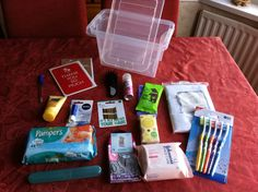 Create a hospital survival kit for the mum to be.