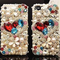 Sweet Love with Diamond Crystal Case Cover for iPhone 6 6s / iPhone 6 Plus