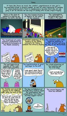 First Dog cartoon about the Paris terror attacks.