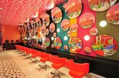 Decoration with bright color: Use fresh & bright color to decorate salon interior- that can make the interior layout look so inviting and charming