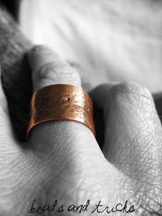 Solid Copper ring, anticlastic raising - darlingstuff.org
