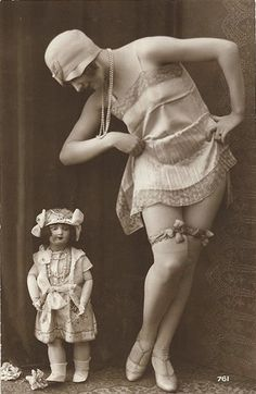 A Doll of a Dance Partner - 1920's - French Postcard - @~ Mlle