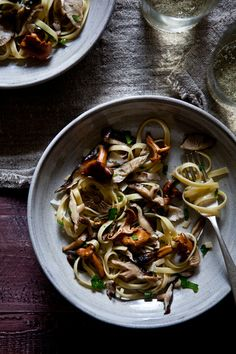 Wild Mushrooms Pasta / Tartlette