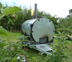 The Exeter Biochar Retort - The cleaner and more efficient method of producing biochar and barbeque charcoal. Making Charcoal, Best Charcoal, Wood Gasifier, Clean Grill, Grill Cleaning, Ascension Island, National Botanical Gardens, Wood Magazine, Wood Logs