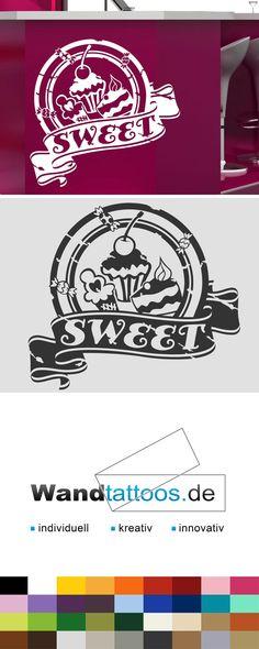 Wandtattoo Button Sweet als Idee zur individuellen Wandgestaltung. Einfach Lieblingsfarbe und Größe auswählen. Weitere kreative Anregungen von Wandtattoos.de hier entdecken!