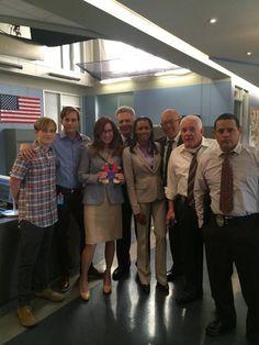 "The ""Major Crimes"" cast on set."