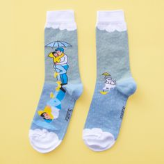 Kissing in the Rain Socks - Coucou Suzette