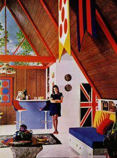 Modish 1960s interior design.