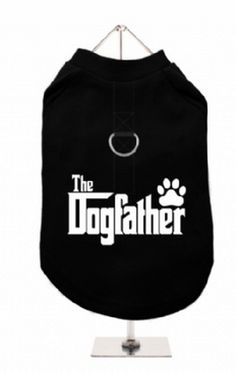 """The Dogfather"" Harness-Lined Dog T-Shirt"