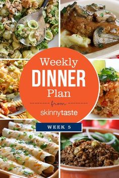 Skinnytaste Dinner Plan (Week 5) | Skinnytaste.com | Bloglovin