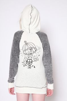 Free Bird Zip-Up Burnout Hoodie - CAPTURE by Hollywood Made