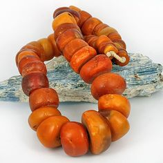 Antique real amber beads - African traded