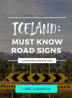 road signs you must know before you drive in iceland