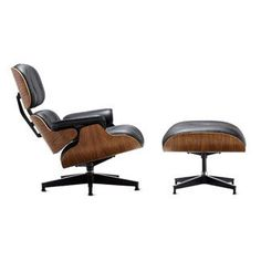 Eames Lounge and Ottoman, designed by Charles and Ray Eames in 1956 and still a very popular classic piece of furniture