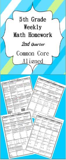 Differentiated Math Menu for the Common Core: Fifth Grade ...