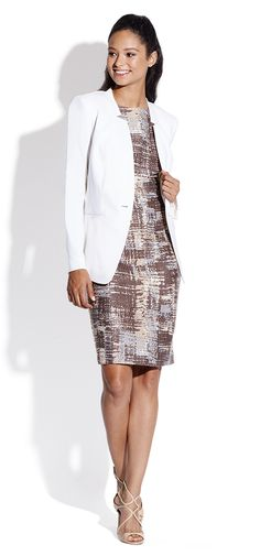 Lafayette 148 New York | Abstract Printed Sleeveless Sheath Dress | SAKS OFF 5th