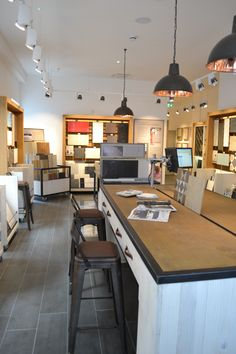 Boutique Tile Showroom for national tile retailer with bespoke display units designed in house by Tile Showroom, Showroom Design, Property Development Companies, Sofa Workshop, Topps Tiles, Interior Architecture, Interior Design, Workspace Design