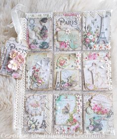 Vintage Paris Pocket Letter (Craftilicious Creations)
