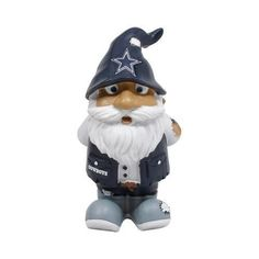 """Forever Collectibles Dallas Cowboys Stumpy Gnome by Forever Collectibles. $9.99. Resin. Officially licensed. 8"""" tall. Hand-painted figurine. These new roaming Garden Gnomes are ready for your garden! These 8 inch tall figures are made of a resin material and come to you with full team colors and team specific logos. They are cute, fun and love to travel from time to time! They are perfect for your garden, patio, desk or shelf. Made by Forever Collectibles.. Save 75% Off!"""