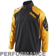 Mens Pittsburgh Steelers Nike Black Quarter Zip Hot Jacket