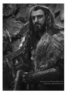 "King Under The Mountain by momofukuu.deviantart.com on @deviantART - Thorin from ""The Hobbit"""