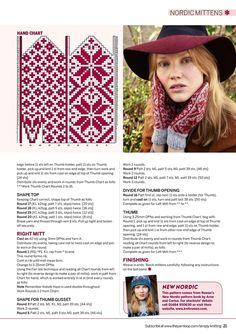 "Вязание. Жаккард - ""Зимняя радуга"" Crochet Mittens Free Pattern, Knit Mittens, Mitten Gloves, Knitting Socks, Crochet Hats, Knitting Stiches, Knitting Charts, Knitting Patterns, Christmas Stocking Pattern"