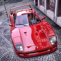 Ferrari F40 on cobblestones