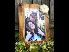 How to Mod Podge a Picture to a Wooden Canvas - YouTube