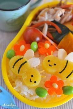 (993) Cute (♡´∀`♡) #kawaii #bento | Japanese food | Pinterest