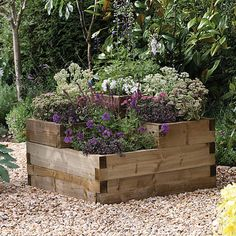 Buy the Forest Garden Caledonian Tiered Planter today! We offer a truly Unique Shopping Experience with Award Winning 5 Star Customer Service, Great Deals and Huge Savings! Raised Garden Bed Plans, Raised Planter Beds, Raised Flower Beds, Raised Beds, Small Garden Plans, Raised Bed Garden Design, Tiered Planter, Wooden Garden Planters, Tiered Garden