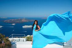 #ssntorinidress8 #greecetravel #santorini Dress Rental, Greece Holiday, Romantic Getaways, Holiday Photos, Most Romantic, Female Portrait, Unique Dresses, Greece Travel, Videography