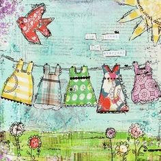 Mixed media art by Christy Tomlinson - amazing artist, well worth checking out her blog & store Scarlet Lime for inspiration.  Love the by lorie