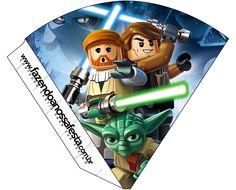 Cone Guloseimas 4 lados Lego Star Wars: