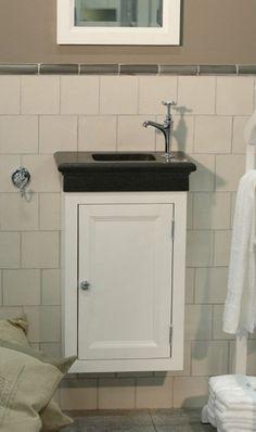 Fontein hoekmeubel van 38x38 met hadsteen geprofileerd fontein ...