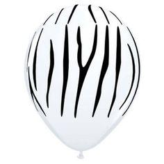 White Zebra Balloons
