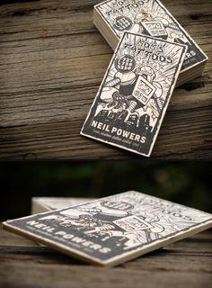 Mom's Tattoos   Letterpress Business Cards by Print&Grain (via Creattica)