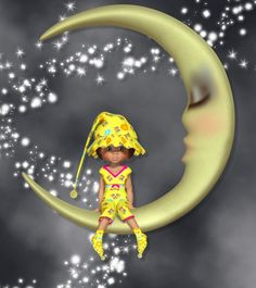 Little PJ's outfit and Moon for Kiki or Posey (See Readme)   CONFORMING ********** Hat with morphs PJ's  Socks Bow  PROP ***** Moon  TEXTURES ********* 2 Cute textures for each item  Outfit comes with all Posey morphs