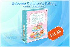 Usborne-Children's Baking Collection 3 Books Set (Slipcase) at best price. #BakingCollection #BakingBooks #wholesalebookcollection #bookscollection #childrensbooks