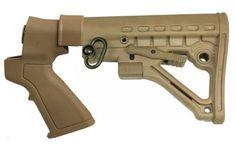 Racks 73961: Fde Mossberg Maverick 88 Shotgun 6 Position Collapsible Stock + Pistol Grip Kit -> BUY IT NOW ONLY: $59.99 on eBay!