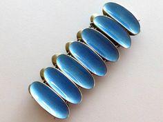 Vintage David Andersen, Norway Sterling Enamel Bracelet - Blue from ccstreasures on Ruby Lane