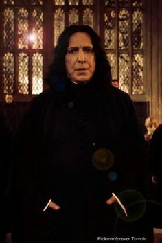 Alan Rickman as Severus Snape in The Harry Potter Series  (2001-2011)