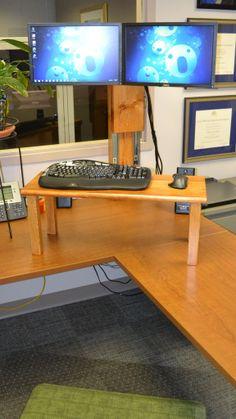 Adjustable Height Desk For Under Dollars Theres Also A Demo Of - Adjustable height desk diy