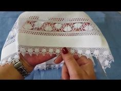 YouTube Needle Lace, Bobbin Lace, Hardanger Embroidery, Hand Embroidery, Plastic Canvas Stitches, Unique Christmas Trees, Chicken Scratch, Video, Brazilian Embroidery