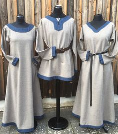A small excerpt of already commissioned works - medieval tailoring Thorids Gewandschneiderei Viking Garb, Viking Dress, Viking Clothing, Historical Clothing, Steampunk Clothing, Steampunk Fashion, Renaissance Costume, Medieval Costume, Viking Halloween Costume