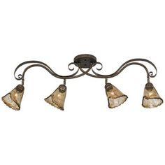 "Organic Amber Glass 41"" Ceiling Track Fixture | LampsPlus.com"