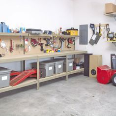 Garage Storage Ideas – Shelves And Racks, so me and the hubby can get that garage in order....