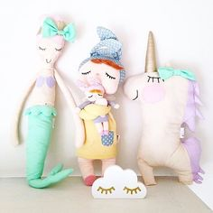 Cute shot from our stockist @barneglede featuring our popular Pastel Lilly Unicorn and Mermaid Shop is still open but will close later today, so please be quick if you'd like to order something beforehand! handmadeheartshop.bigcartel.com (Current turnaround 4-6 weeks max.)