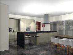 Keukentrend. Open keuken. Ontwerp van Van Wanrooij. Lees meer: http://vanwanrooijtiel.nl/nieuws/keukentrend-open-keuken-keuken-living/